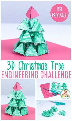 The Best Christmas Engineering Challenge You'll Find This Year Can you make a Christmas tree from paper triangles? It's a problem in paper Christmas tree engineering! A fun Christmas STEM activity for kids! Stem Science, Science Activities, Classroom Activities, Space Activities, Science Education, Life Science, Higher Education, Physical Education, Physical Science