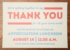 Appreciation Luncheon Invitation by Brian Hodges, via Behance