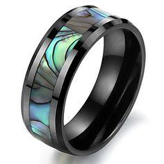natuurlijke shell zwarte keramische ring in de ruimte 2015 – €16.24