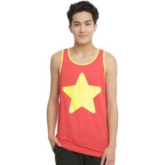 Cartoon Network Steven Universe Star Logo Tank Top ($8.99) ❤ liked on Polyvore featuring men's fashion, men's clothing, men's shirts and men's tank tops
