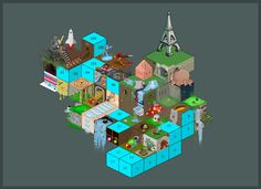 Isometric Grid Collaboration by ~carbon-12 on deviantART