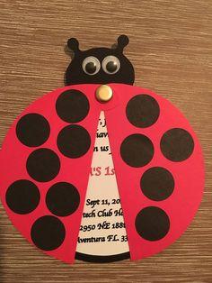 Set of 12+ Ladybug Party Invitation, Ladybug 1st Birthday Party, Ladybug Invitation by MicaCreationsShop on Etsy