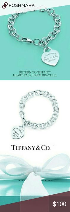 Tiffany charm bracelet. Bracelet only no charm Gorgeous Tiffany & Co charm bracelet. It only comes with the bracelet. Charm isn't included. It is in excellent condition only worn a few times on special occasions. On the 13th lope from hook it has Tiffany &Co stamped on it. Tiffany & Co. Jewelry Bracelets