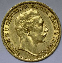 1906, 20 M. Wilhelm II., A, ss.  Dealer Hadersbeck Auction  Auction Minimum Bid: 250.00EUR