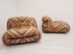 Set of 2 Cassina Soriana lounge chairs by Tobia & Afra Scarpa, 1970s