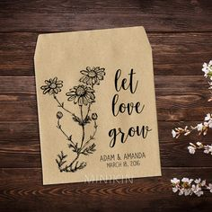 Seed Packet Favor Wedding Seed Packet Woodland Wedding Favor