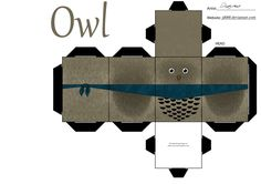 Party favor owl box template