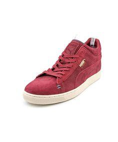 PUMA Puma Stepper Crafted Men  Round Toe Suede Burgundy Sneakers'. #puma #shoes #sneakers