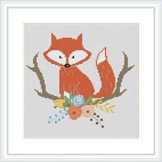 This is an Instant Download PDF Cross Stitch Pattern. ***WINTER SALE*** * Buy ANY 2 patterns and get 1 FREE* * Buy ANY 3 patterns and get 2 FREE* * Buy ANY 4 patterns and get 3 FREE* *(Only READY patterns) *If you have any problems or need help, please contact me! --------------------------------------- Stitch Counts of embroidered image: 95 wide x 73 high Colors Used: 12 I recommend using 18 count Aida fabric with 2 strands of DMC floss. If you want the project to be biger, use 14 count...