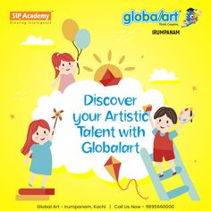 Discovering what your talents are can be extremely hard to figure out. You may not think of yourself as creative, but we can all show our artistic flair in different ways. Identify your talents and start using them now with the help of Globalart. Join Globalart Irumpanam now. Limited Seats Only. Call us for more details: 98956 60000 #Globalart #Kochi #Irumpanam #Art #Creativity #Drawing #Imagination Kochi, Global Art, Imagination, The Help, Thinking Of You, Creativity, Join, Drawings, Artist