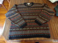 GORGEOUS Fair Isle sweater. Made in Scotland.
