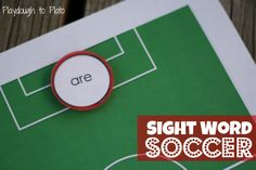 Free printable sight word game. Soccer fans will LOVE this!!
