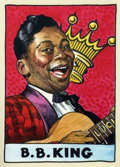 COMICS BLAH! R.I.P. B.B. King Art by William Stout