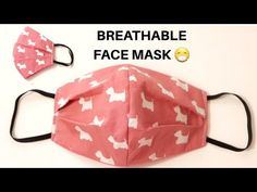 Breathable Fabric Face Mask Sewing Tutorial   How to Make a Face Mask at Home   Handmade Face Mask - YouTube Small Sewing Projects, Sewing Hacks, Sewing Tutorials, Sewing Ideas, Easy Face Masks, Diy Face Mask, Sewing Stitches, Diy Mask, Sewing Techniques
