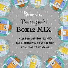 Kto nie chce całego TempehBOXWędzonego, może zażyczyć sobie Tempeh BOX MIX. Życzenia realizujemy na www.pureveg.pl #tempeh #pureveg