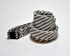 Freestyle Bow Tie for Men Grey Seersucker Stripe by MeandMatilda, $25.95
