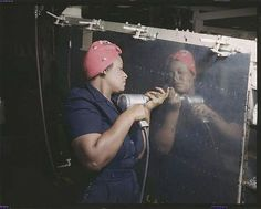 The real Rosie the Riveter.  Amazing!