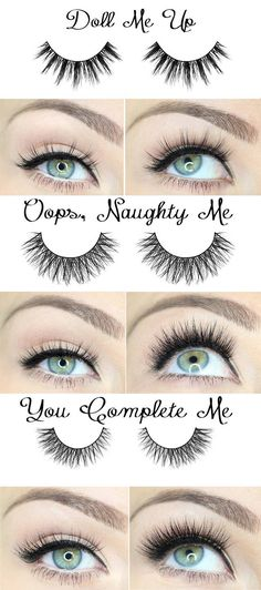 Different effects for various false eyelashes...