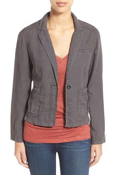 Caslon® Linen One-Button Jacket (Regular & Petite)