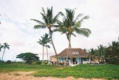 View of Sugar Beach Events venue on Maui from the beach | photo: Wendy Laurel Photography