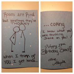 Creations By Gayla Funny Birthday Card For Boyfriend Girlfriend Husband Wife