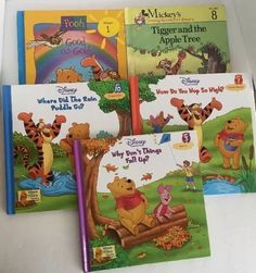 Lot 5 Hardcover Winnie The Pooh Books Tigger Disney Thinking Spot Stories Etc