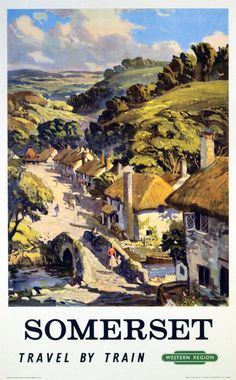 British Railways Western Region travel poster Artwork by L A Wilcox This is truly an outstanding quality poster It is printed on Fuji crystal archive