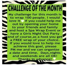 Let me help you on your way to better health and wellness ONE WRAP AT A TIME or with our other amazing It Works products!!!