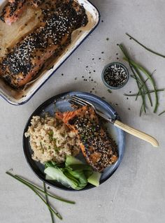 One or two oily fish meals each week will meet your needs for long-chain omega-3 fatty acids. Salmon makes a brilliant midweek meal because it cooks in a matter of minutes. his recipe is from my biggest and most beautiful book yet - Essential Annabel Langbein!