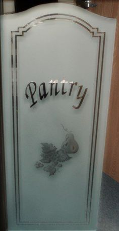 Best Impression Glass Design - Lake Elsinore, CA, United States. Sandblasted Pantry Glass Door.