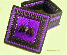 Purple And Black Bat Trinket Box by ghostgap on Etsy, $6.00