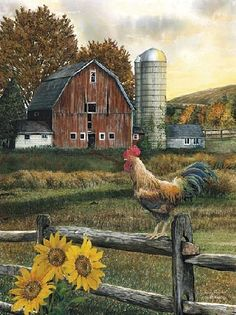 Early Rooster by artist Ed Wargo