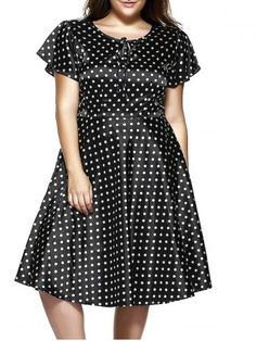 GET $50 NOW | Join RoseGal: Get YOUR $50 NOW!http://www.rosegal.com/plus-size-dresses/plus-size-short-sleeve-polka-dot-midi-dress-608594.html?seid=1424208rg608594