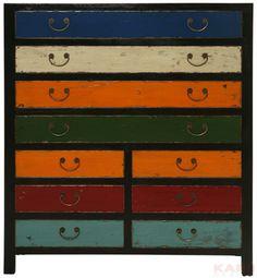 Cabinet Harlekin black 10 Drawers
