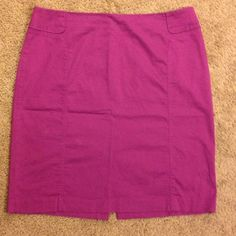 Purple Pencil Skirt In good condition. Sorry about the wrinkles :/  zips up in the back and material does stretch. bundle and save 20% on your purchase. New York & Company Skirts Pencil