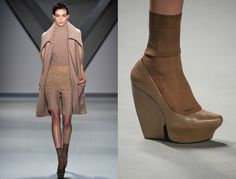 vera wang AW2012 details socks with shoes