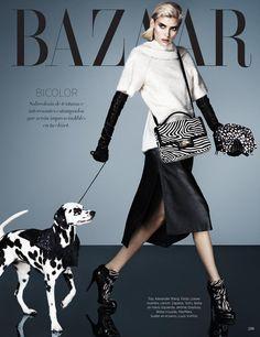 """Harper's Bazaar Latin America - Cruella October 2013.  Dalmatian is """"Annie Fenway"""", Angel's Nest Annie Fenway at 7 years old."""