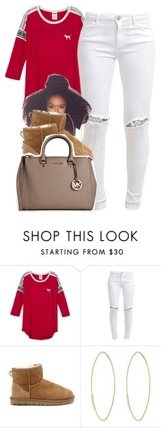 """blah. 11.1.15"" by thebaddestbaddie ❤ liked on Polyvore featuring FiveUnits, UGG Australia, Lana and MICHAEL Michael Kors"