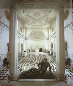 Robert Adam. Entrance Hall, Syon House. Middlesex, England 1762-63