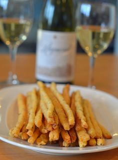 Cheddar & herb cheese straws go perfect with wine for the holidays :)