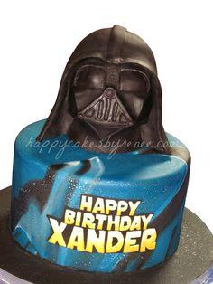 Happy Cakes Bakes: Star Wars Darth Vader Cake!