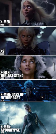 Storm hair gets shorter with every xmen movie