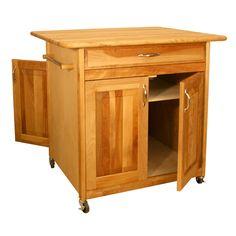 Catskill Big Island WorkCenter - Cabinet Doors on Both Sides   ButcherBlockCo.com