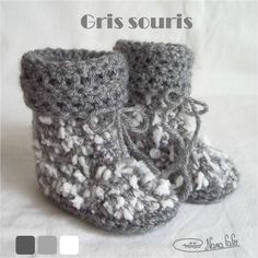 Chaussons bébé crochet + tuto