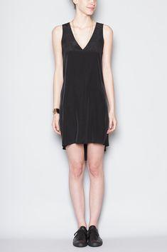 No. 6 Water V Neck Dress (Black)