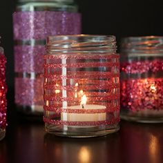 Check out this step by step tutorial for learning how to make painted and frosted glass jars ~ which make great candle holders!