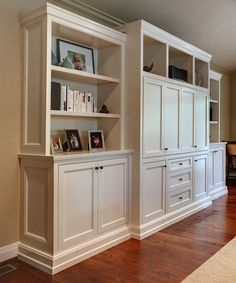 I want the sides of the cabinets to have indented molding like this. No flat surface.