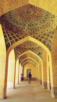 Admiring the stunning Islamic architecture in Iran was one of the highlights of our visit.