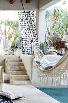 Ideas para decorar la terraza, tendencias decoración de terrazas, alfombras de exterior, hamacas para terraza, decoración low cost de terrazas.