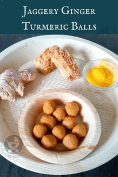 This winter, give your toddler an immunity boost with kitchen staples with these Jaggery Ginger Turmeric Balls - an easy, no-cook kid-friendly recipe! #winterrecipes #toddlers #healthysnacks
